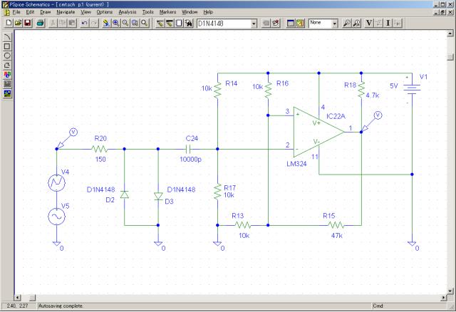 PSPICE解析用カセットインターフェース回路