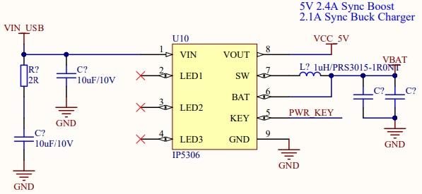 M5Stackの電源回路